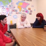 Executives teach Risen Christ students business, character