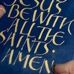 Writing the final 'Amen'