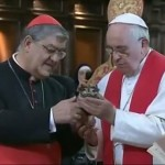 Saint's relic with miraculous tendencies does it again for Pope Francis