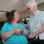 For woman with cerebral palsy, parish is joyful stop on faith journey