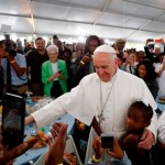 Pope's visit to Catholic Charities meal seen as sign of hope for the poor